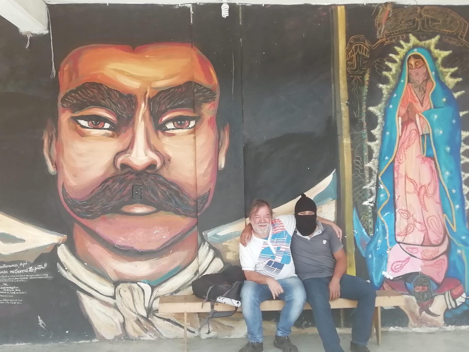 ¡Viva Zapata y la Virgen de Guadalupe!
