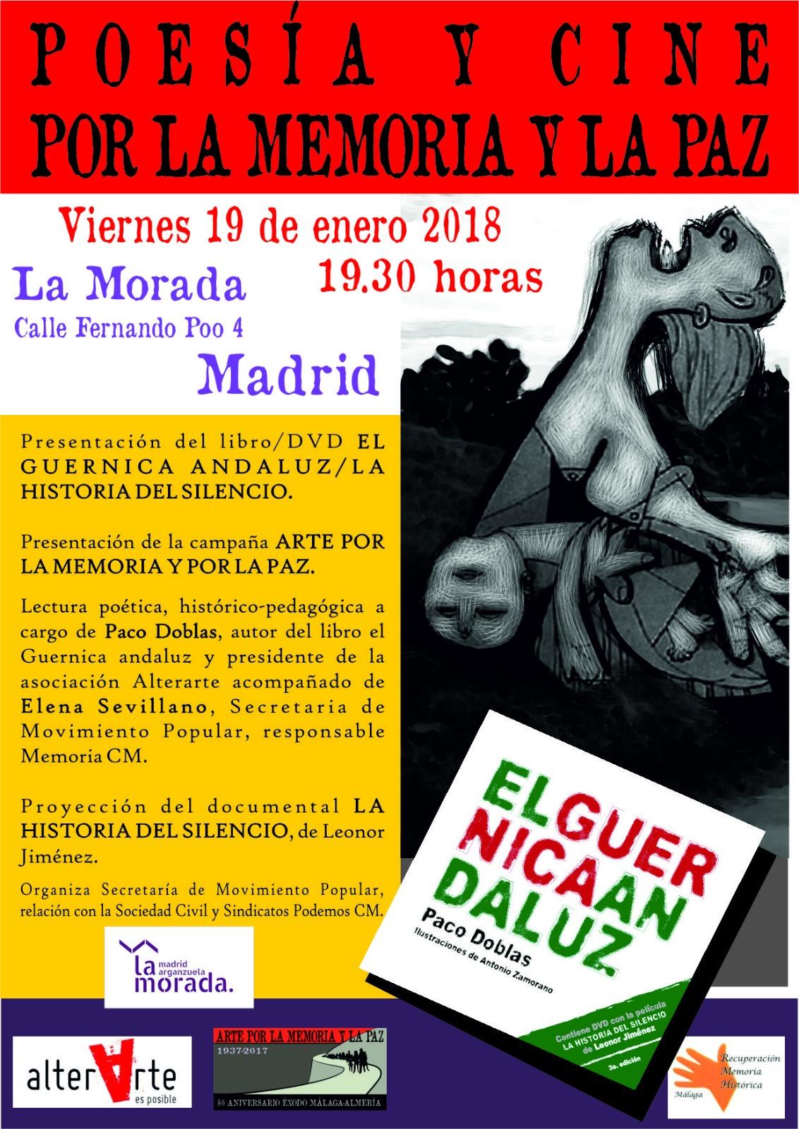 Presentación del libro/DVD  El GUERNICA ANDALUZ / LA HISTORIA DEL SILENCIO