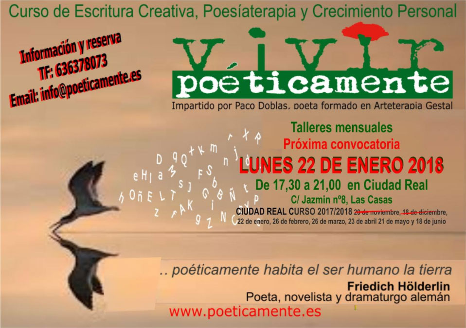 Curso de Escritura Creativa, Poesiaterapia y Crecimiento Personal